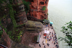 Grote Boedha in leshan, Sichuan, China Royalty-vrije Stock Fotografie