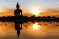 Grote Boedha in Wat Muang Stock Foto