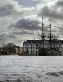 Grote boot in Amsterdam Royalty-vrije Stock Fotografie