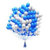 Grote bos van partijballons. Gevormde kubus. Stock Afbeeldingen