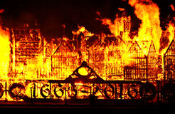 Grote brand van Londen Royalty-vrije Stock Fotografie