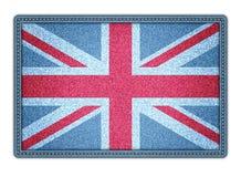 Grote Britan-vlag. Vectorillustratie. eps10 Stock Afbeelding