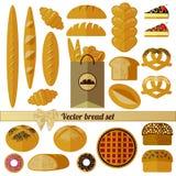 Grote broodreeks Ge?soleerde pictogrammen op witte achtergrond vector illustratie