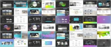 Grote bundel van schone en minimale presentatiemalplaatjes Het vectorontwerp van de brochuredekking Presentatiedia's voor vlieger stock illustratie