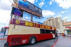 Grote Bus Las Vegas hop-op hop-weg op de Strook van Las Vegas in Las Vegas Royalty-vrije Stock Afbeeldingen