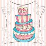 Grote cake Stock Afbeeldingen