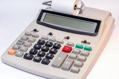 Grote calculator met document broodje en lege vertoning als malplaatje royalty-vrije stock foto's