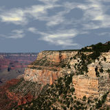 Grote Canion bij Zonsondergang Stock Afbeelding
