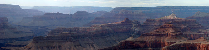 Grote Canion - panorama Stock Afbeeldingen