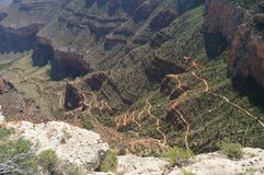 Grote Canion van de Rivier van Colorado Hermistrust Route Geologische vormingen stock foto
