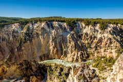 Grote Canion van nationaal park Yellowstone Stock Afbeelding