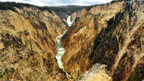 Grote Canion van Yellowstone. Royalty-vrije Stock Foto's