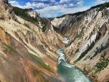 Grote Canion van Yellowstone Stock Afbeelding