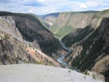 Grote Canion van Yellowstone Royalty-vrije Stock Afbeeldingen