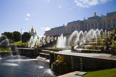 Grote cascade bij Pertergof-Paleis Heilige-Petersburg, Rusland Stock Afbeelding