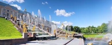 Grote cascade in Pertergof, heilige-Petersburg Stock Fotografie