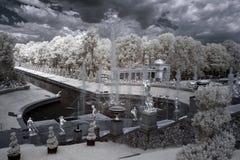 Grote cascade in Pertergof, heilige-Petersburg Royalty-vrije Stock Fotografie