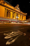 Grote Centraal bij nacht Stock Foto's