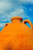 Grote ceramische Griekse pot Royalty-vrije Stock Foto's