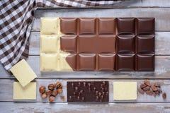 Grote chocolade Stock Fotografie