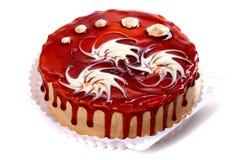 Grote chocoladecake Royalty-vrije Stock Afbeeldingen