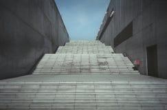 Grote concrete trapweg Royalty-vrije Stock Foto's