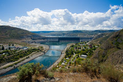 Grote Dam Coulee Stock Foto