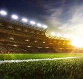 Grote de arenaachtergrond van de dagsport Stock Fotografie