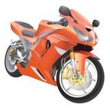 Grote de detailsvector van de motorfiets Stock Afbeelding
