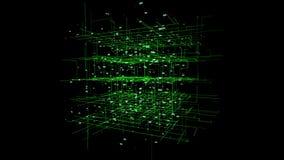 Grote de motieachtergrond van de gegevensvisualisatie stock footage