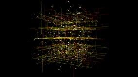 Grote de motieachtergrond van de gegevensvisualisatie stock video