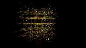 Grote de motieachtergrond van de gegevensvisualisatie stock videobeelden