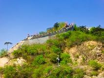 Grote de Muursectie van de Huanghuachengoever van het meer Royalty-vrije Stock Fotografie