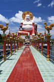 Grote de tempel ko samui Thailand van Boedha Stock Afbeeldingen