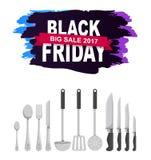 Grote de Verkoop Vectorillustratie van Black Friday 2017 Royalty-vrije Stock Afbeeldingen