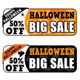 Grote de verkoopbanners van Halloween Stock Afbeelding