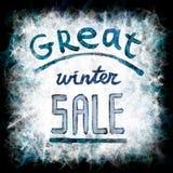 Grote de winterverkoop Stock Foto