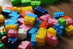 Grote delen van de ontwerper Multi-colored kinderen` s ontwerper met grote details royalty-vrije stock afbeelding