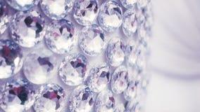 Grote diamanten op muur stock footage