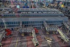 Grote die lay-outluchthaven van Lego wordt gemaakt Royalty-vrije Stock Afbeeldingen