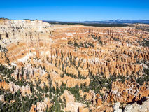 Grote die spitsen weg door erosie worden gesneden Stock Afbeeldingen