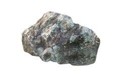 Grote die steen en rots op witte achtergrond wordt geïsoleerd Stock Afbeeldingen
