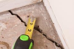 Concrete Barst in Stichting stock foto