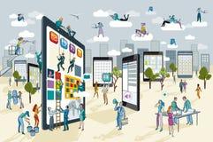 Grote Digitale Tablet Royalty-vrije Stock Afbeeldingen