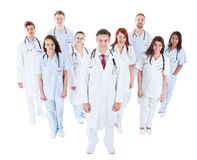 Grote diverse groep medisch personeel in eenvormig Stock Foto