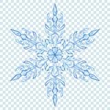 Grote doorzichtige Kerstmissneeuwvlok Royalty-vrije Stock Afbeelding