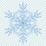 Grote doorzichtige Kerstmissneeuwvlok Royalty-vrije Stock Afbeeldingen