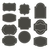 Grote elegante kaderreeks Vector illustratie Stock Foto