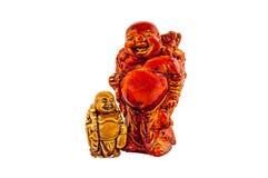 Grote en kleine Budai Hotei netsukes Royalty-vrije Stock Afbeeldingen