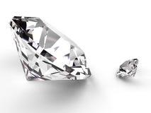 Grote en kleine diamant Stock Afbeeldingen